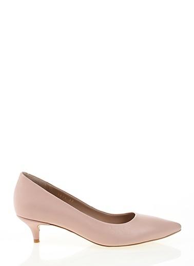 Nemesis Shoes Nemesis Shoes %100 Deri Klasik Kadın Klasik Topuklu Ayakkabı Pembe
